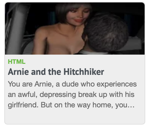 arnie and hitchhiker porn game