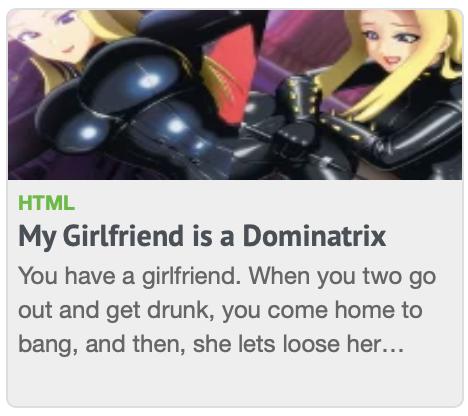 my girlfriend dominatrix top porn game